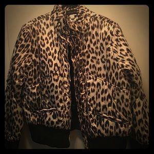 Leopard print waist jacket!